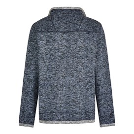 Seaton Full Zip Herringbone Fleece  Dark Navy