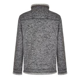 Tyrone 1/4 Zip Herringbone Fleece Charcoal Grey