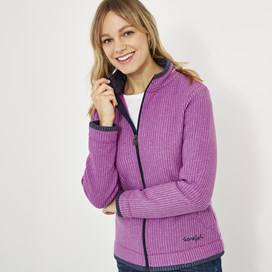 Ariana Full Zip Grid Fleece Purple Orchid