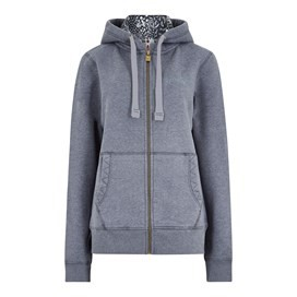 Asbury Full Zip Print Trim Hoodie Dark Navy