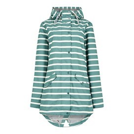 Antonia Striped Showerproof Jacket Viridis