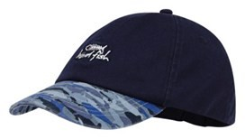 Easton Print Peak Cap Maritime Blue
