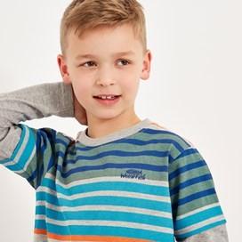 Mack Long-Sleeve Stripe Tee Grey Marl