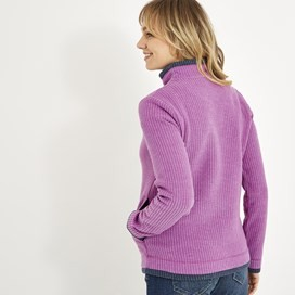 Beyonce 1/4 Zip Grid Fleece Purple Orchid
