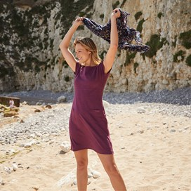 Talia Plain Jersey Dress Purple Potion Marl