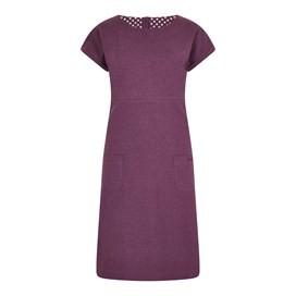 Talia Plain Jersey Dress Purple Potion Marl