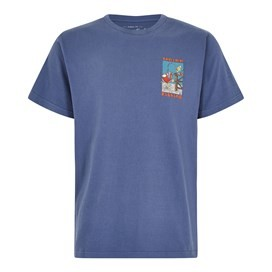 Weird Fishing Artist T-Shirt Blue Indigo
