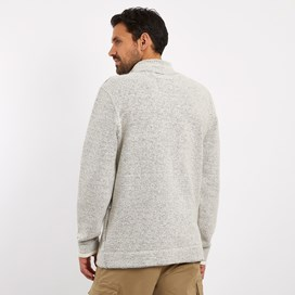 Ash Full Zip Macaroni Sweatshirt Ecru