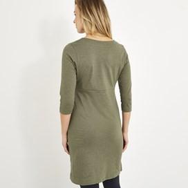 Starburst Jersey Dress Dusky Green Marl