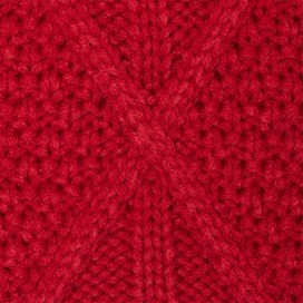 Sandy Cable Knit Scarf Rouge