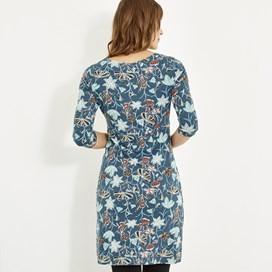 Starshine Printed Jersey Dress Deep Sea Blue