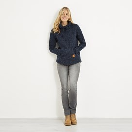 Roskilde Funnel Neck Knitted Fleece Dark Navy
