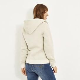 Tova Full Zip Soft Knit Hoodie Chalk