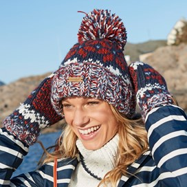 Ellen Fair Isle Bobble Hat Dark Navy