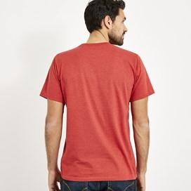 Fished Branded T-Shirt Dark Red Marl
