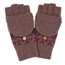 Cotswold Fair Isle Knit Gloves Heather