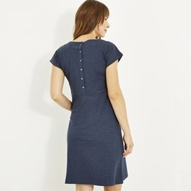 Talia Plain Jersey Dress Dark Navy Marl