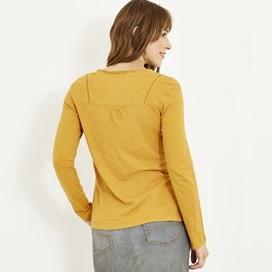 Walkabout Slub Cotton T-Shirt Saffron