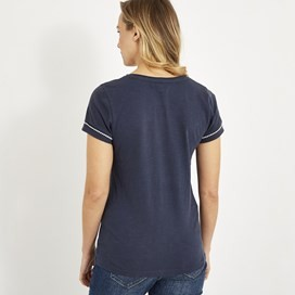 Tenby Slub Cotton T-Shirt  Dark Navy