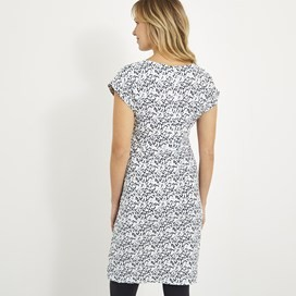 Tallahassee Printed Jersey Dress Dark Navy