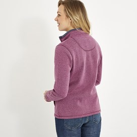 Sienna Full Zip Soft Knit Jacket Purple Potion