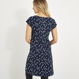 Biscayne Printed Jersey Dress Maritime Blue