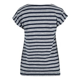Nova Embroidered Stripe Tee Dark Navy