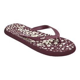 Everly  Branded Flip Flop Purple Potion