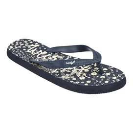 Everly  Branded Flip Flop Dark Navy