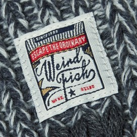 Firth Cable Knit Scarf Midnight