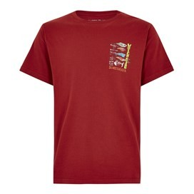 Sling Your Hook Artist T-Shirt Dark Red