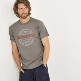 Surplus Applique T-Shirt Steel Grey Marl