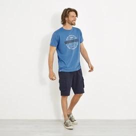 Surplus Applique T-Shirt Aztec Blue Marl