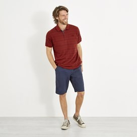 Baskin Jacquard Striped Polo Shirt Retro Red