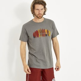 Surfer Graphic T-Shirt Steel Grey