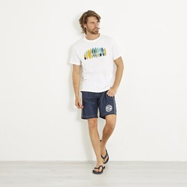 Surfer Graphic T-Shirt Dusty White