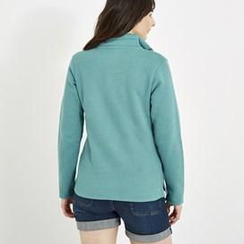 Marley Full Zip Print Trim Sweatshirt Viridis