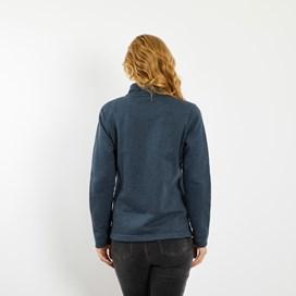 Marley Full Zip Print Trim Sweatshirt Dark Navy