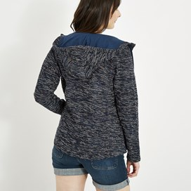 Abelia  Full Zip Macaroni Sweatshirt Dark Navy
