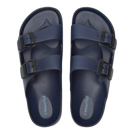 Mayson Pool Sliders Dark Navy