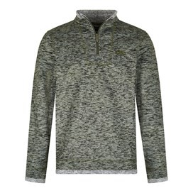 Tyrone 1/4 Zip Herringbone Fleece  Dark Olive