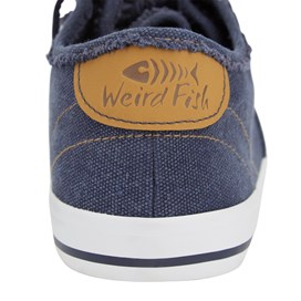 Harrison Canvas Lace Up Shoe Navy