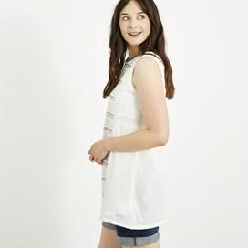 Angelina Embroidered Cotton Tunic Light Cream