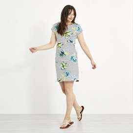 Tallahassee Printed Jersey Dress Cream