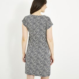 Tallahassee Printed Jersey Dress Indigo