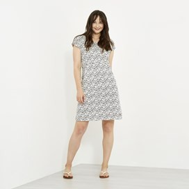 Biscayne Printed Jersey Dress Dark Navy