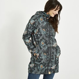 Cosmo Printed Waterproof Jacket Washed Black
