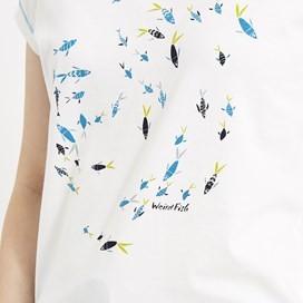 Swirl Print T-Shirt White