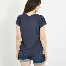 Swirl Print T-Shirt Dark Navy