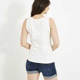 Fleet Print Vest White